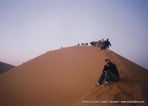 Trekking up Dune 45