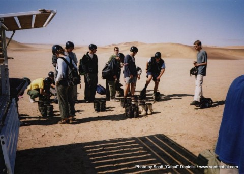 Preparing for Dune Boarding