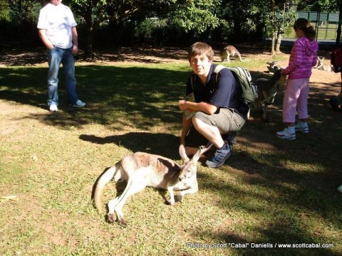 Me and a Kangaroo