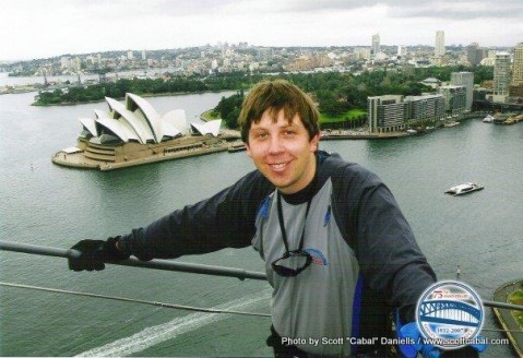 Me on the Harbour Bridge