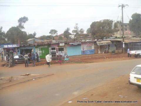 Stalls near Nairobi