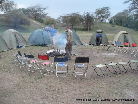 Camp at Nakuru