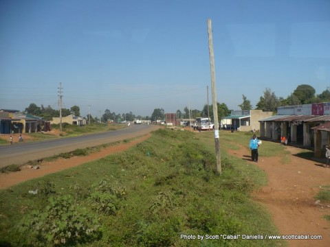 Stopping for fuel at Webuye