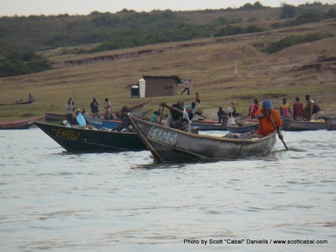 Fishermen leaving the Village