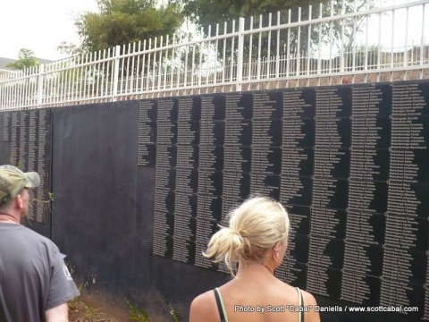 Name wall at the Genocide Memorial