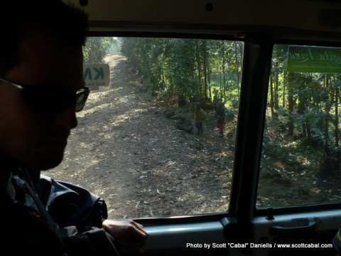 The track to the start of our Gorilla Trek