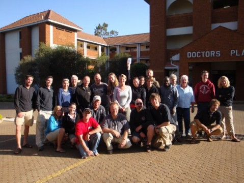 Our tour group in Eldoret Hospital visiting Janneke
