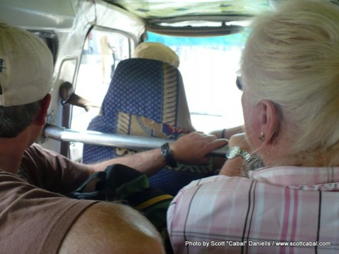 In a Matatu on the way to the pygmies