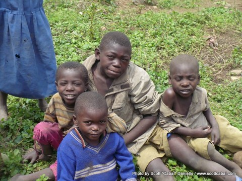 Some of the kids at the Pygmy village