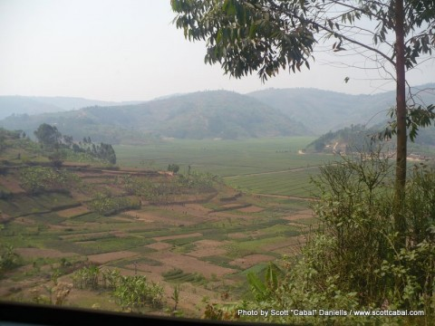 A vew down to the valley in Rwanda