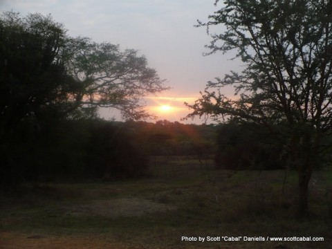 Sunrise at Lake Mburo NP