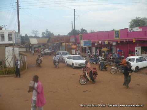 A Ugandan town on the way to Jinja