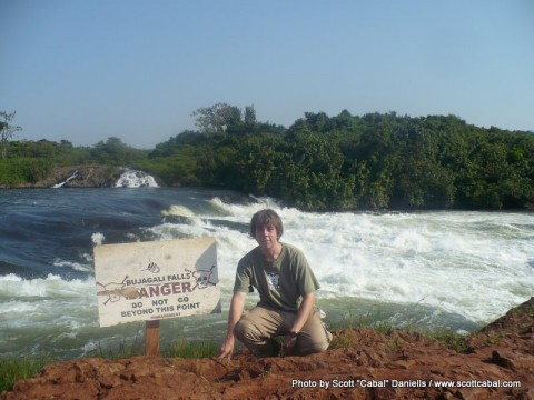 Me at Bujagali falls