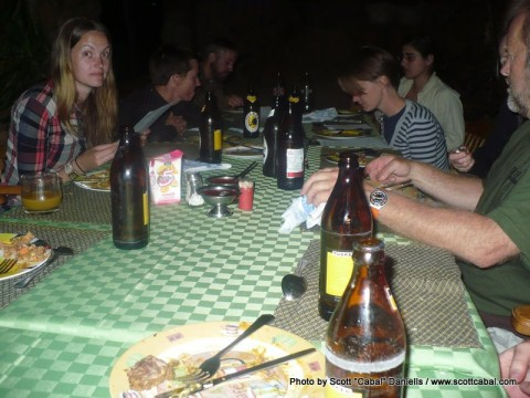 Dinner at Eldoret, again.