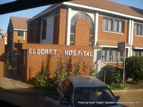 Eldoret Hospital -visiting Janneke