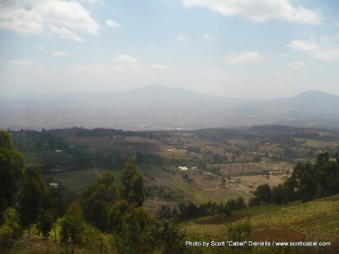 A view of the Great Rift Valley
