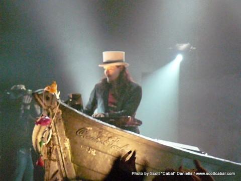Tuomas in his boat