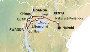 Tour map of Dragoman trip ZNN159