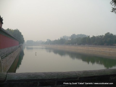 The moat on the North side of The Forbidden City