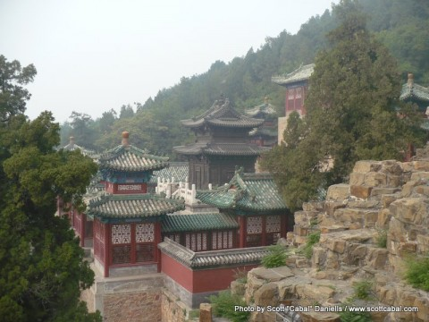 One of the buildings of The Summer Palace
