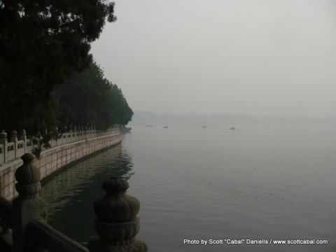 The lake next to The Summer Palace