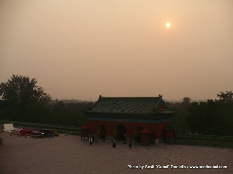 Sunset from The Temple of Heaven