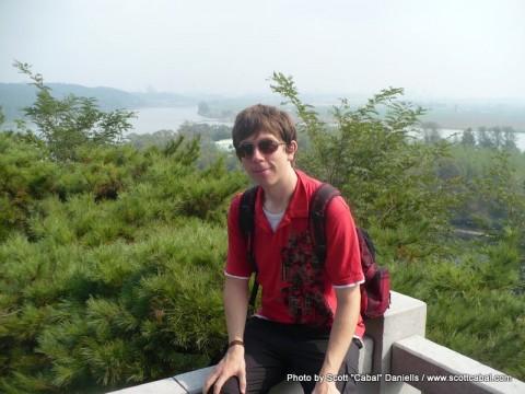 Me overlooking Pyongyang