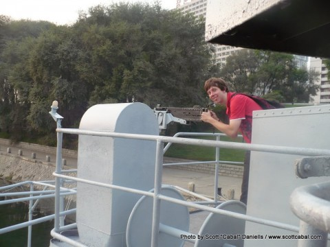 Me on the deck of the USS Pueblo