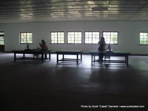 The desks which were used to sign the Korean War Armistice