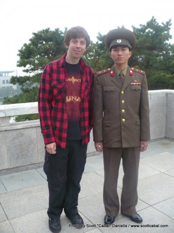 Me with an officer from the DPRK Army