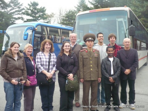 Our group at the DMZ