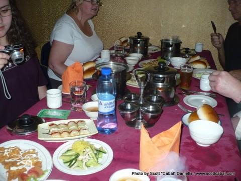 Dinner back in Pyongyang