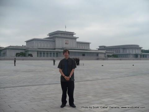 Me outside the Kumsusan Memorial Palace