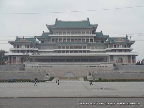 The Grand People's Study House as seen from Kim il-Sung Square