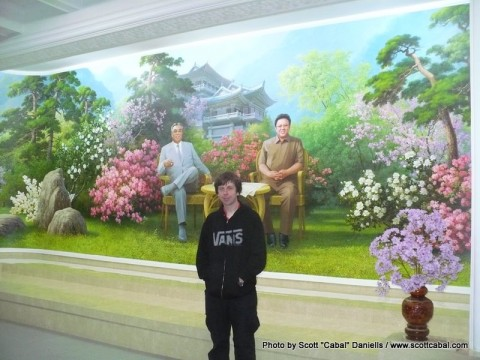 Me inside the hotel at Mt Myohyang