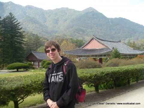 Me at the Pohyon Temple