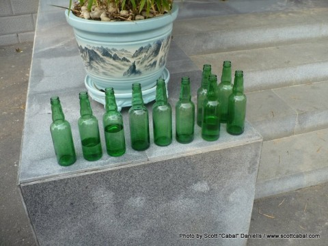 Ten green bottles standing on the wall