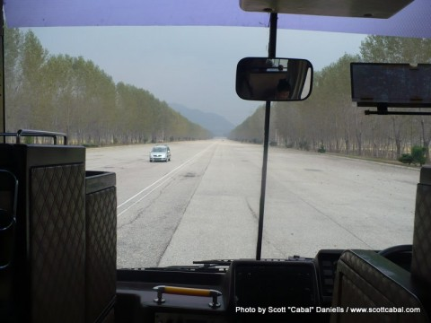 The Youth Hero Highway on the way back to Pyongyang