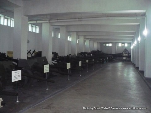 Military equipment at the War Museum