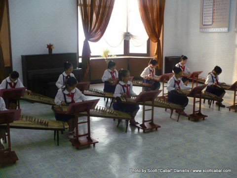 Playing music at the Schoolchildren's Palace