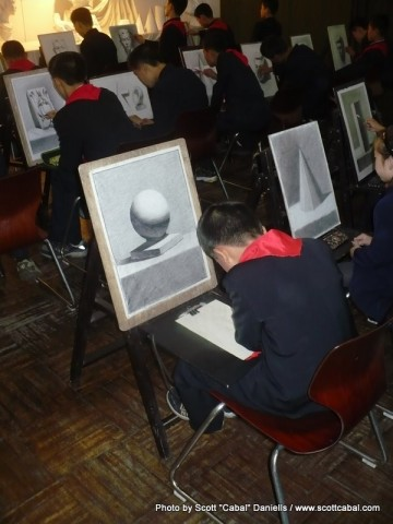 Drawing at the Schoolchildren's Palace