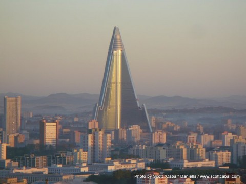 The Ryugyong Hotel is currently under construction