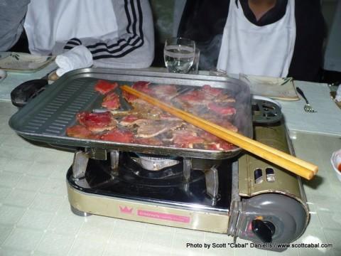 Korean BBQ in one of Pyongyang's finest restaurants