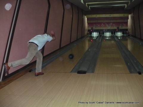 Bowling in the Yanggakdo Hotel