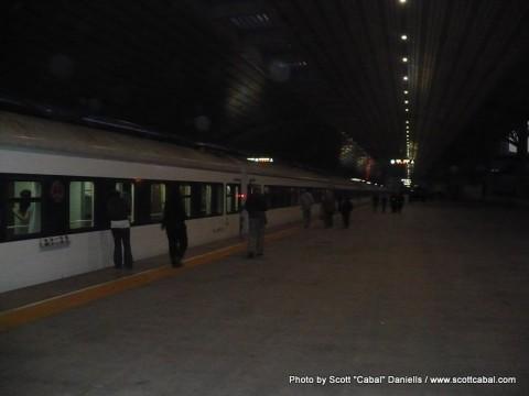 Dandong Railway Station platform