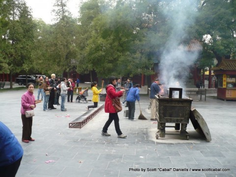 One of the places you can burn incense to pray