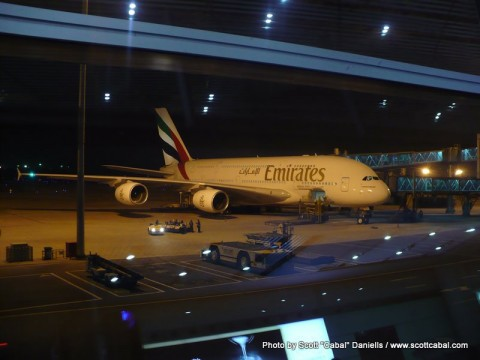 Our A380 waiting at Beijing Airport