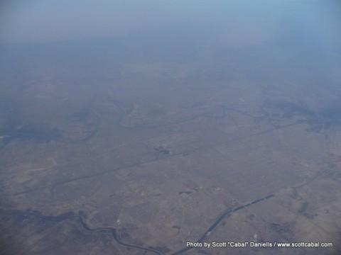 We flew over Baghdad, Iraq