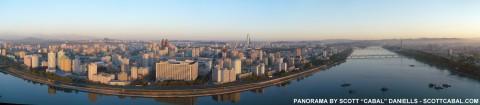 A panorama of Pyongyang