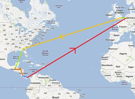 This is the full route I'll be taking